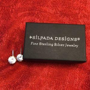 Silpada Sterling silver .925 earrings w/ CZ